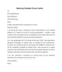 How To Write A Nursing Cover Letter Nursing Graduate Cover Letter Example Cover Letter Example Nursing