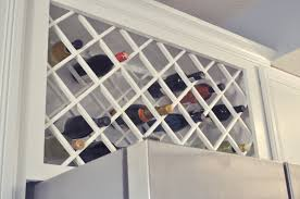 Not So Newlywed McGees Cabinet Wine Lattice