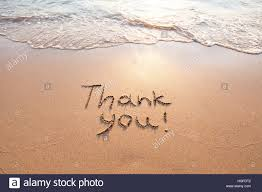 Sand Card Thank You Gratitude Concept Beautiful Card Word Written On Sand