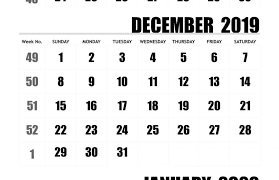 November 2019 To January 2020 Calendar Template Free
