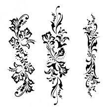 Vektor Vektorové Prvky Designu Květiny A Květinové Ornamenty