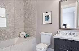 bed bath master bathroom remodel ideas with bathtub and grey subway tile walls