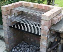 charcoal diy brick bbq kit with 6mm stainless grill warming grill ss104b