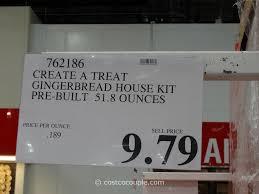 create a treat pre built gingerb house kit create a treat pre built gingerb house kit costco 5