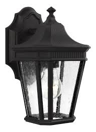 Cotswold Outdoor Lighting Feiss Ol5420bk Cotswold Lane 1 Light Outdoor Wall Lantern