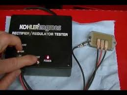 how to test a 15amp kohler regulator rectifier using a kohler how to test a 15amp kohler regulator rectifier using a kohler tester 25 761 20 s
