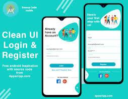 Android Material Design Login Form Xml Ui Design Modern Android Studio Login Registration Design For Free