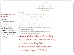 Job Accomplishments List Writing An Effective Resume There Is No Official Format For A