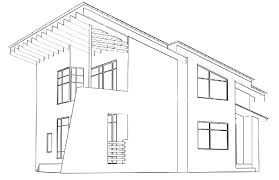 modern architectural drawings.  Architectural Architectural Drawing At Home In The Perspective Stock Photo Inside Modern Drawings