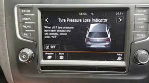 How To Reset Tyre Pressure Light Vw Polo