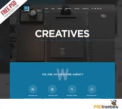 Creative Digital Agency Website Template Free Psd Psdfreebies Com