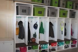 Mudroom Cubbies Plans Keeping It Simple Diy Garage Mudroom Lockers With Lots Of Storage