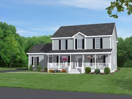 exterior colonial house design. Majestic Looking 8 Front View Of A Colonial House Plans Two Story Home With Beautiful Porch Exterior Design T