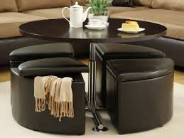 amazing coffee table with stools underneath coffee table round coffee table with storage stools coffee table