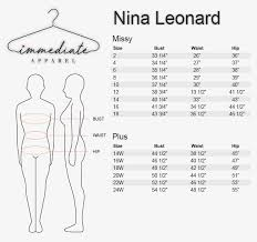 New York And Company Size Chart Size Charts Wholesale Womens Apparel Wholesale Womens