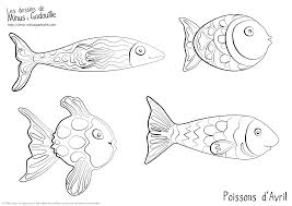 Coloriages Fishes Poissons D Avril