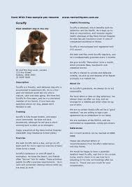 Rent With Pets Sample Pet Resume For Dogs Vet Technician Samples