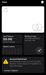 We did not find results for: My Apple Card Has Been Restricted For 4 Weeks Need Advice Applecard