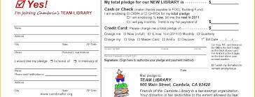 Donation Pledge Card Template Pledge Card Template Lavanc Org