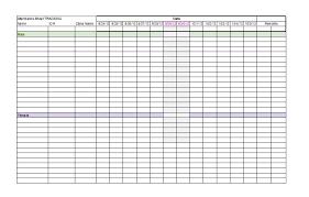 Attendance Chart Attendance Chart Template 5 Blank Invoice