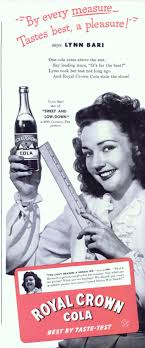 Royal Crown Cola - RC Rates, Lynn Bari 1944 Ad Picture