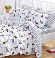 yoyomall cotton cartoon dog bedding set cute puppy duvet cover set for kids children