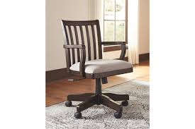 home office desks chairs. townser traditional upholstered swivel rolling chair home office desks chairs