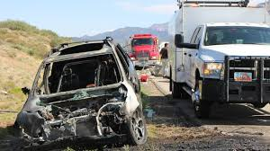 Crash involving car fire and obliterated trailer triggers closure of ...