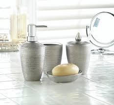 silver shimmer bath accessory set wholesale at koehler home decor