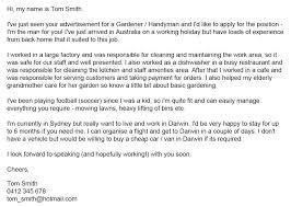 cover letter for handyman position