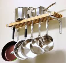 Kitchen Wall Hanging Kitchen Wonderful Hanging Pot Rack Ideas With Regtangle Tile