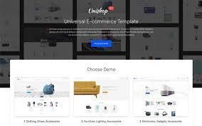 3 Template Unishop Universal E Commerce Template