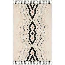kenya ivory black blue 6 ft x 9 ft area rug