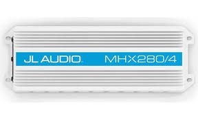 jl audio mhx280 4 compact 4 channel marine amplifier 50 watts jl audio mhx280 4 ideal for boats motorcycles atvs and more