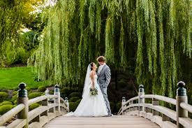 bride and groom portrait at a chicago botanic garden wedding