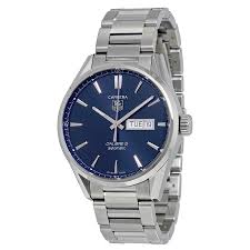 tag heuer carrera blue dial stainless steel men s watch carrera tag heuer carrera blue dial stainless steel men s watch