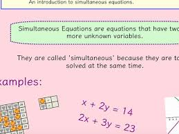 simultaneous equations including worded questions