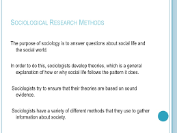 sociological research methods research