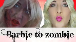 barbie to zombie makeup tutorial