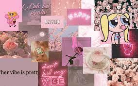 Aesthetic wallpaper laptop soft pink ...