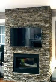 stone fireplace with tv above stone ce with ideas a above mounting tv over stacked stone