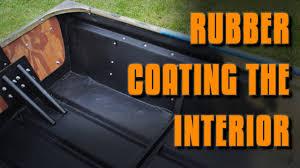 jon boat mods rubber coating the interior