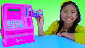 Wendy <b>Pretend Play</b> with ATM Machine <b>Toy</b>! <b>Kid</b> Learning How To ...
