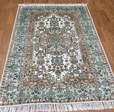 new 6 x 4 interior handmade carpets flowers hand knotted kashmir silk area rugs