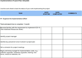 Free Project Plan Template Excel Download Sample Project Implementation Plan Templates For Free