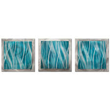 filament design brevium 12 in x 38 in turquoise essence metal wall art set of 3 cli na7017087 the home depot on 3 piece wall art set with filament design brevium 12 in x 38 in turquoise essence metal wall