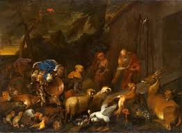 noah and the animals entering the ark giovanni castiglione oil painting