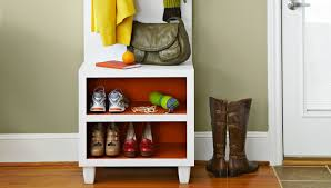 Entry Hall Bench With Coat Rack Entry Organizer Bench 75