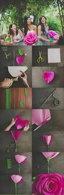 diy giant paper rose cool diy photo booth props wedding photo booth ideas