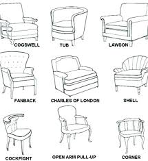 furniture style names accent chair types best of styles chairs medium size chair types and names